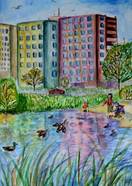 рисунок на тему мой город: